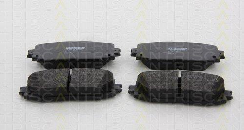 Preisvergleich Produktbild Triscan 8110 13072 Bremsbelagsatz, Scheibenbremse - (4-teilig)