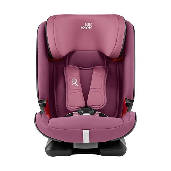 Britax Römer ADVANSAFIX IV M Group 1-2-3 (9-36KG) Car Seat- Wine Rose Britax Römer Our patented pivot link isofix system directs the force first downward into the vehicle seat, and then forward more gently - greatly reducing the risk of head and neck injury for your child We believe that a 5-point harness is the safest way to secure your child in a car seat because it keeps your child safe and tight in the seat's protective shell Soft neoprene performance chest pads fit comfortably on your child's chest. They help reduce your child's movement in the event of a collision, and add even greater comfort to the 5-point harness 4