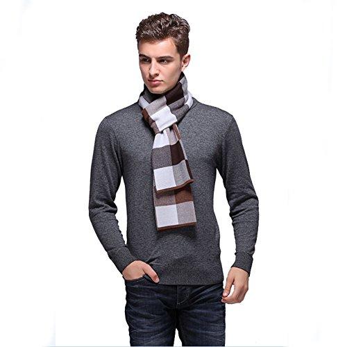 Preisvergleich Produktbild Zehui Herren Fashion Casual Wolle Plaid Schal Winter Warm dicker Schals