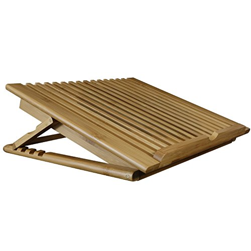 Macally Wooden Bamboo Laptop Cooling Fan Table Stand for Laptops & MacBook\'s up to 17\