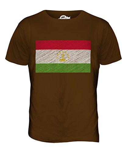 CandyMix Tadschikistan Kritzelte Flagge Herren T Shirt Braun