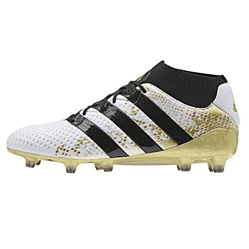 adidas Ace 16.1 Primeknit S76474, Scarpe da Calcio Uomo ftwr white-core black-gold met