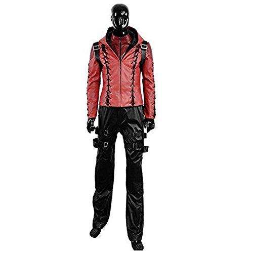 al Roy Harper battleframe Cosplay Kostüm, Collegejacke, Rot (Frauen Arrow Kostüm)