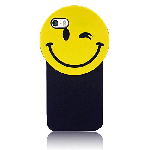 Sunroyal Funny Eye Blink Augenzwinkern Cartoon Silikon Schutz Series 3D Cute Lovely Cartoon Auge Soft Rubber Silicone Back Shell Weichem Silikon Schutz Gel Zurück Hülle Case Cover für iPhone 6 6S 4.7  Blinken