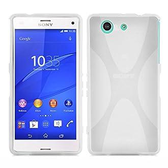 Cadorabo. Astuccio Custodia Gel (Silicone) in Design X per Sony Xperia Z3 Compact in Semi Trasparente