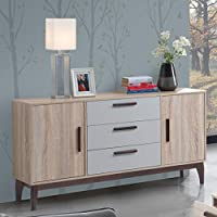 Maison Concept Brames Cabinet, Beige and Grey - H 790 x W 400 x D 1500 mm