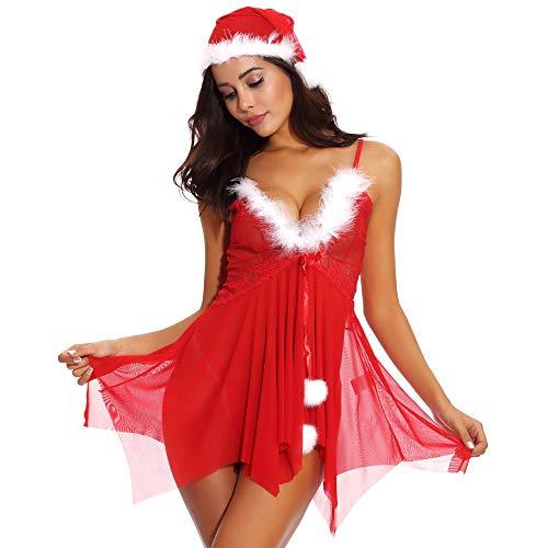 Yvelands Weihnachten Plus Größe Spitze Frauen Sexy Unterwäsche -