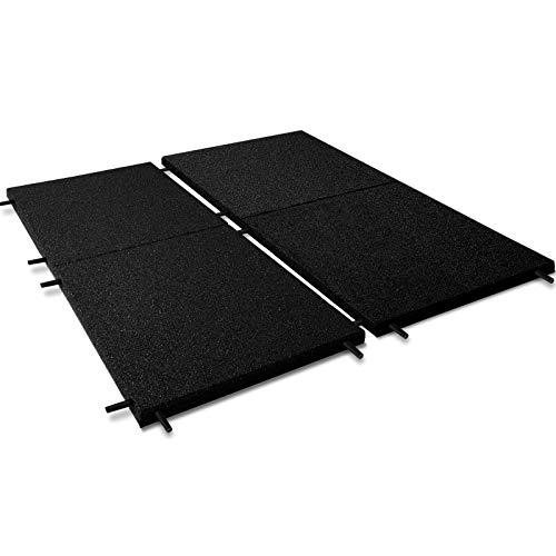Fallschutzmatten Play Protect United   mit Steckverbindern   schwarz   Fallschutz made in Germany   einzeln oder im 2er Set (2 Stück: 100 x 100 cm)