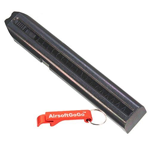 AirsoftGoGo 27rd Metall Magazin für Marui 18C AEP/Cyma CM030 CM123 Softair AEP Schlüsselanhänger Inklusive (Glock Magazin 27)