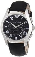 Reloj Emporio Armani AR1633 de cuarzo para hombre con correa de piel, color negro de Emporio Armani