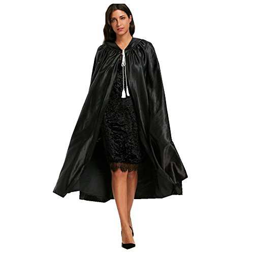 Halloween Cloak ,Adult Hooded Unisex Cape Cloak Devil Wicca Robe Outwear By Dragon (Express Stunden Halloween)