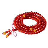 JunBo Tipo Rosso Agata Bracciale Nero Cristallo Multi-Cerchio Buddha Perline Stringa Mano di Ghiaccio