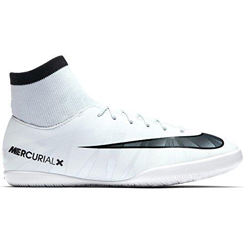 Nike Jr. Mercurialx Victory Vi Dynamic Fit CR7 Interior Niño Bota de fútbol - Botas de fútbol (Interior, Niño, Masculino, Suela para Interiores, Negro, Azul, Blanco, Monótono)