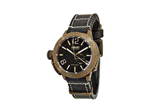 U-Boat Classico Doppiotempo Automatic Watch, Bronze, Brown, 46 mm, GMT, 9008