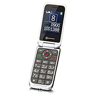 Amplicomms PowerTel M7000i Easy to Use Mobile Phone with SOS - Silver