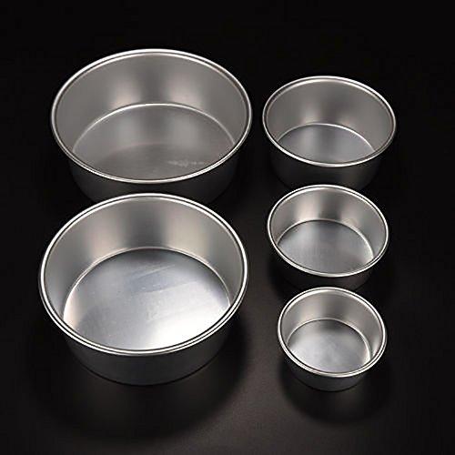 OurLeeme Rund Aluminium Backen Tin Pan Form für Kuchen DIY Küche Werkzeug 20,3cm (8 Sandwich-einheit)