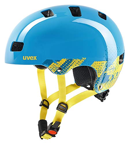 Uvex Kinder Kid 3 Fahrradhelm, Blau (blackout blue), 55-58 cm -