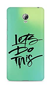 AMEZ lets do this Back Cover For Lenovo Vibe P1