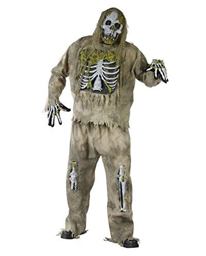Zombie Kostüme Erwachsene Skelett Für (Zombie Skelett Kostüm für Erwachsene -)