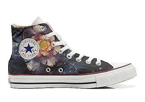 Converse Fleur - Converse Customized Chaussures Coutume (produit artisanal) Infinity