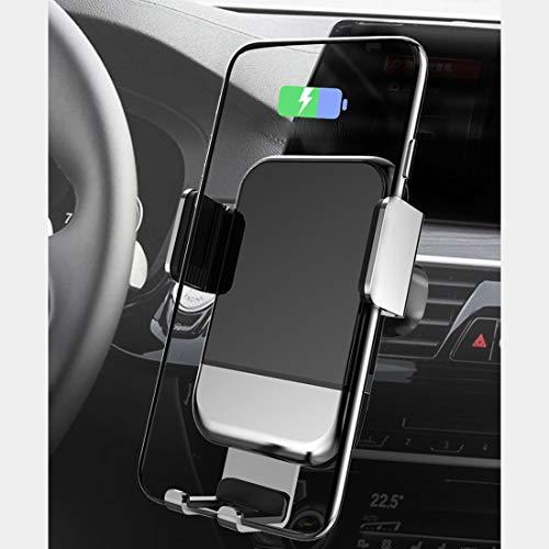 RUNNG Caricatore per Auto Wireless ad induzione elettrica, Supporto per Telefono Cellulare con Ventosa di Carica Rapida, Rotazione Multi-Angolo per Samsung/iPho