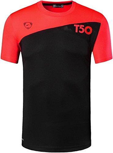 jeansian Uomo Asciugatura Rapida Sportivo Casuale Sports Fashion Men's Sport Tee T-Shirts Tops Running Camicie LSL3225 LSL131_Black