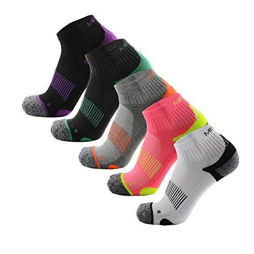 MEIKAN Low Laufsocken, Running Socken für Damen & Herren, 5 Paar Unisex Sneaker Sportsocken (Multicolor-S, EU35-38/(UK2-5))