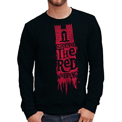 MUSH Sweatshirt Game of Thrones RED Wedding - Film by Dress Your Style - Herren-XL-Schwarz - Shirt Red Trek Star