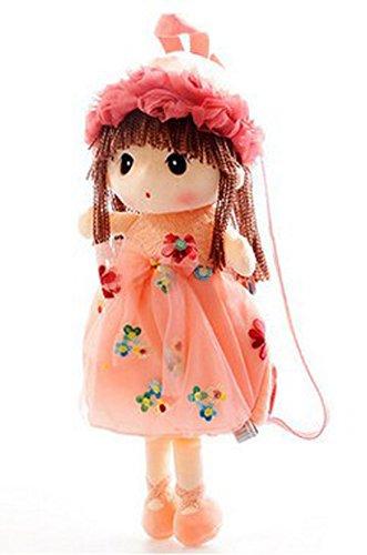 Good Night Blumen-Fee angefüllter weicher Plüsch-Spielzeug-Rucksack für kleine Kinder, Karikatur-Puppen-Rucksack für im Freien