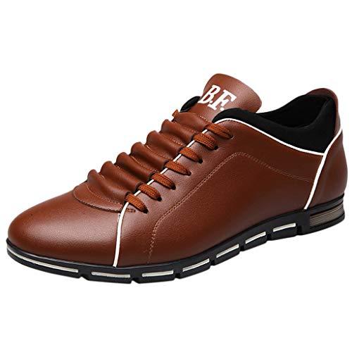 manadlian Chaussure Homme Cuir Ete 2019 Baskets Basses à Lacets Chaussure Casual Shoes Pas Cher Chaussures de Sport Business