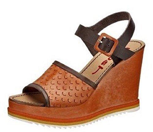 Sandalette Keilsandalette aus Leder von Wosh - Lachsfarben Gr. 41