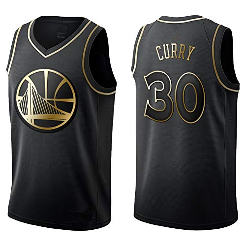 MOSHENG Herren Damen Jersey-NBA Stephen Curry/Giannis Antetokounmpo/Luka Doncic Trikots Atmungsaktives, Besticktes Basketball Swingman Trikot-blackA-M