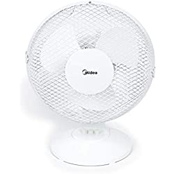 MIDEA FT23-16J Table Fan Ventilateur 2 vitesses - Pelle 23 cm. Diamètre : 40 W, plastique.