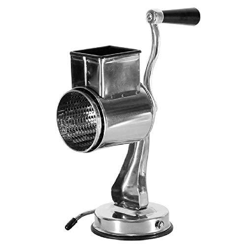 Casiz Rallador de queso giratorio, rallador de queso, rallador de vegetales, rallador de tambor giratorio...