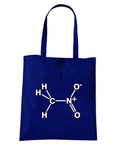 T-Shirtshock - Borsa Shopping TB0384 Nitro Nitromethane Molecular Drag Racing Blu Navy