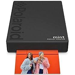 Polaroid Mint Imprimante avec technologie Zink Zero Printer Ink et Bluetooth intégré pour appareils Android et iOS - Noir