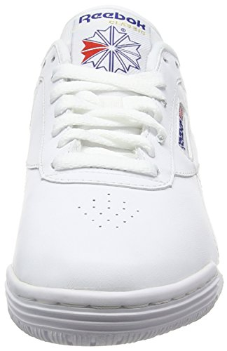 Reebok Ex-O-Fit Clean Logo Int, Baskets Basses Mixte Adulte, Mehrfarbig Weiß (Int-White/Royal Blue/Royal Blue)