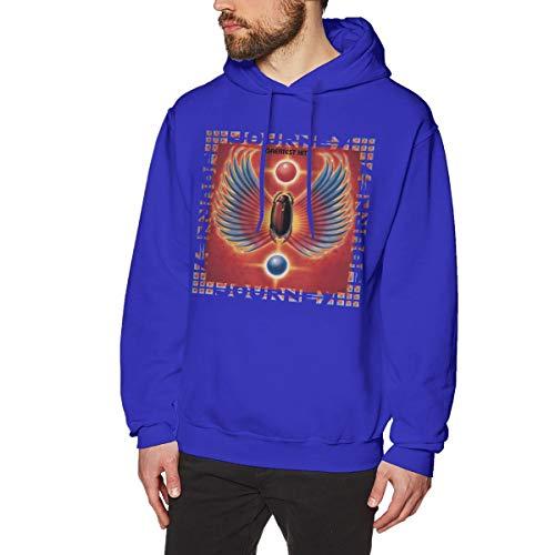 James Home Männer Journey-Band Greatest Hits Pullover Hoodie Langarm Sweatshirt Hoodies für Männer Jungen Kleidung Outdoor Mantel Blau S -