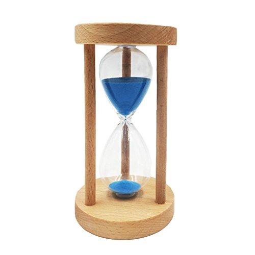 perfeclan 10/15/30 Min Holzrahmen Sanduhr Sandglass Eieruhr Teeuhr Tischdeko Timer für Kochen, Maske, Sport, Zähneputzen, Lesen usw. - Blau, 10 Minuten