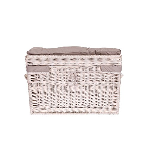 Wäscheschrank, Truhe für Wäsche, Wäschekorb, Wäschepuff aus Weide, Spielzeugkorb aus Weide -