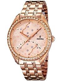 Festina F16742/2 - Reloj de pulsera mujer, acero inoxidable chapado