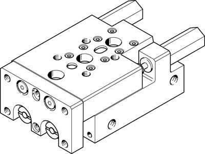 SLT-10-30-A-CC-B (197891) Mini-Schlitten Hub:30mm Justierbarer Endlagenbereich/Länge:4mm