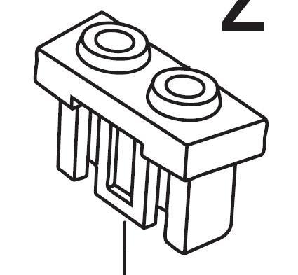 Kabelstecker für i-Light-Nabendynamo D3xx / D7xx bis Modelljahr 2008 grau einteilig