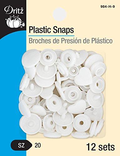 Dritz Plastic Snaps Size 20 12/Pkg-White Heart W/Shiny Finish White Hearts Snap