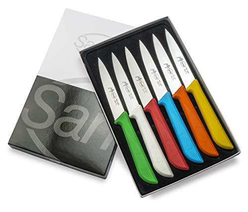 Sanelli set jolly skin confezione 6 coltelli da cucina, acciaio inox (amazon exclusive)