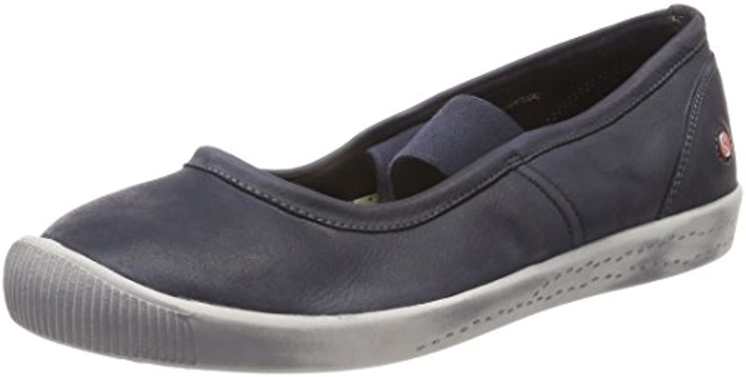 Softinos Damen Ion446sof Washed Geschlossene Ballerinas Blau
