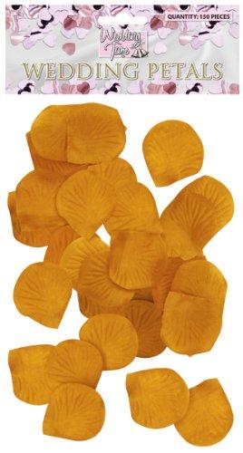 Oro Wedding favori petali di fiori decorazione 150pcs