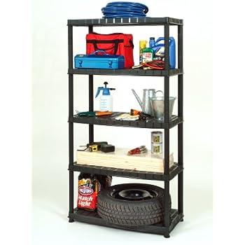 xl kunststoffregal mit vier b den und einer traglast von 80 kg pro boden in robuster ausf hrung. Black Bedroom Furniture Sets. Home Design Ideas