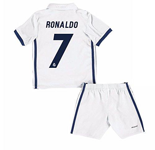 2016per ventole da calcio Real Madrid CF 7cristiano ronaldo Home Maglia per bambini ragazzi in Bianco, Bambino, White, L