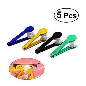 rosenice Reiniger 5x BRILLEN REINIGER weichen Bürste Reinigung Tool Brillen Reinigung Clip (wie abgebildet)